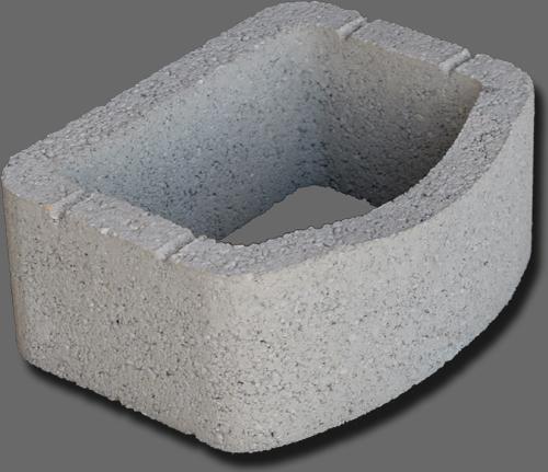 Növénytámfal kertépítő elem - beton támfal - (Kertépítő elemek)